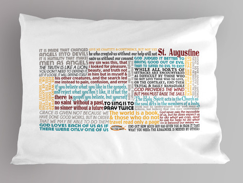 St. Augustine Quote Pillowcase