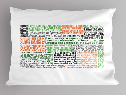 St. Patrick Quote Pillowcase