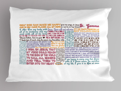 St. Gemma Quote Pillowcase
