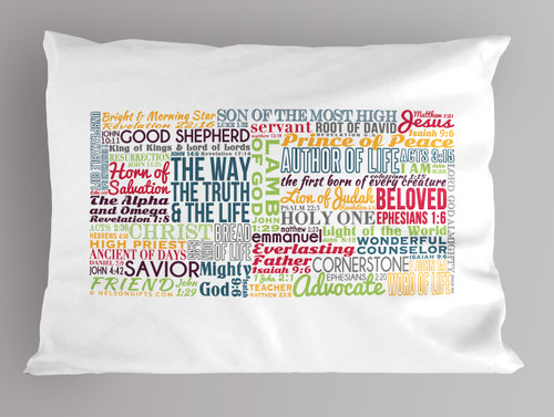 Name of Jesus Christ Quote Pillowcase