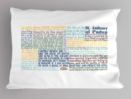 Saint Anthony of Padua Quote Pillowcase