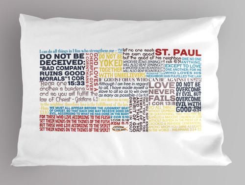 Saint Paul Quote Pillowcase