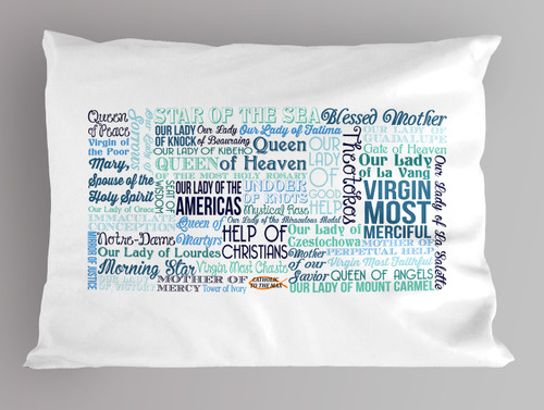 Names of Mary Quote Pillowcase