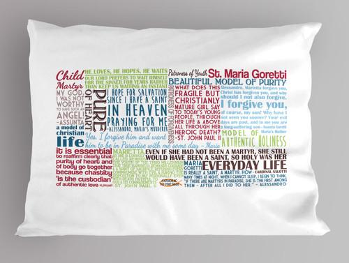 Saint Maria Goretti Quote Pillowcase