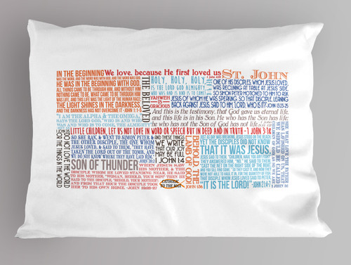 Saint John Quote Pillowcase