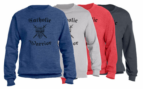 Catholic Warrior Defender of the Faith Crewneck Sweatshirt