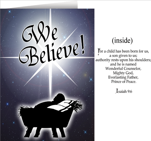 We Believe Greeting Card