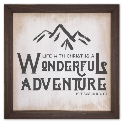 """Wonderful Adventure"" Rustic Framed Quote"