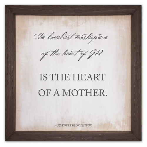 """The Loveliest Masterpiece"" Rustic Framed Quote"