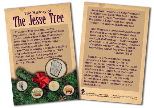 History of the Jesse Tree Explained Card