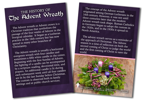 History of the Advent Wreath Explained Card