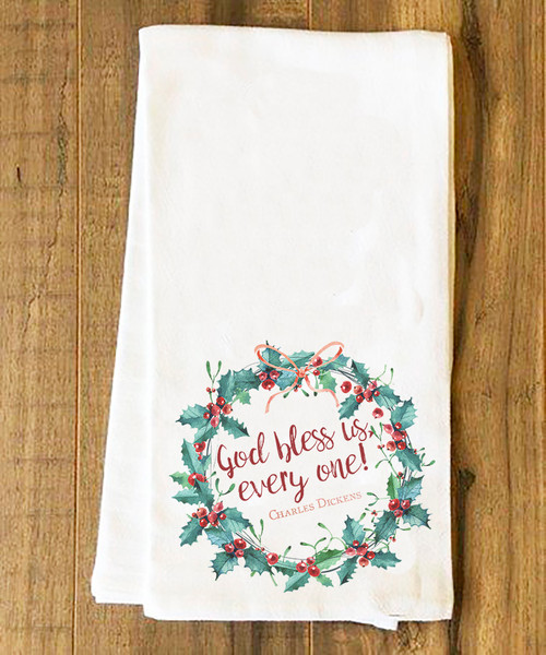 God Bless Us, Every One Tea Towel