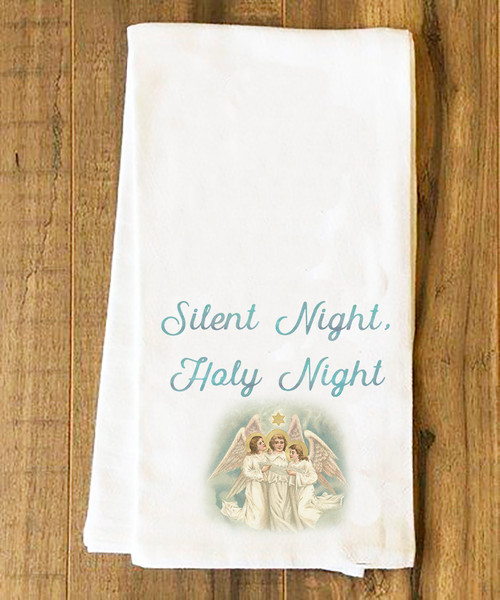 Silent Night Tea Towel