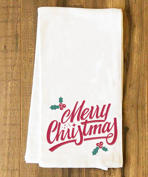 Merry Christmas Tea Towel