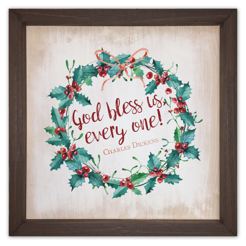 God Bless Us Rustic Framed Quote