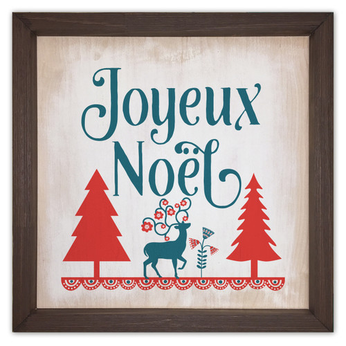 Joyeux Noël Rustic Framed Quote