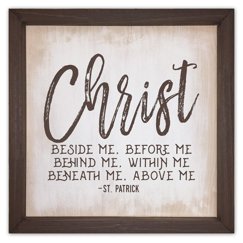 """Christ Before Me"" Rustic Framed Quote"