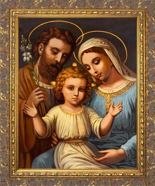 Italian Holy Family - Ornate Gold Framed Art