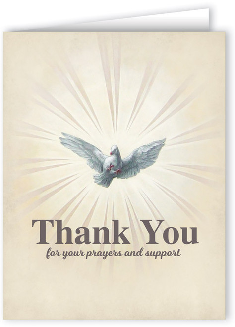 Thank You for Your Prayers and Support Note Card
