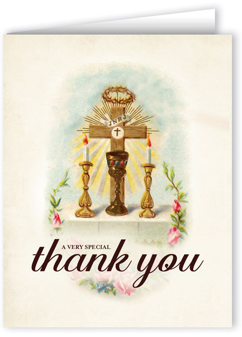 Vintage Altar A Very Special Thank You Note Card