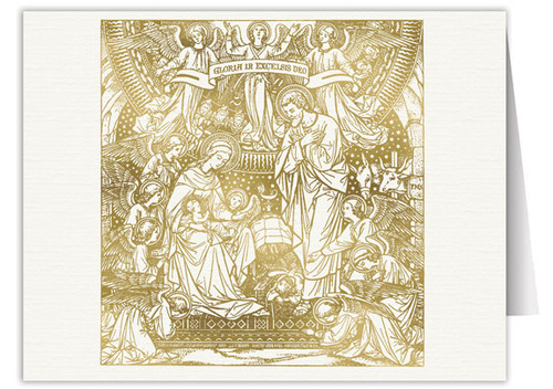 Nativity Woodcut Note Card