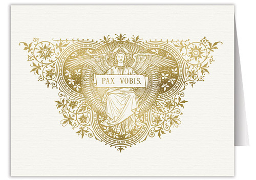 Pax Vobis Angel Woodcut Note Card