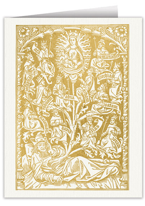 Tree of Jesse Woodcut Note Card