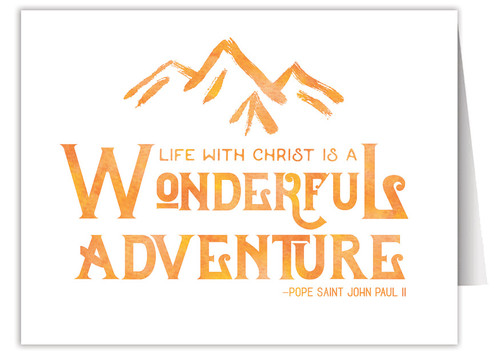 """""""Wonderful Adventure"""" Quote Note Card"""
