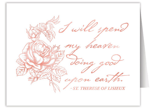 """""""I Will Spend my Heaven"""" Quote Note Card"""