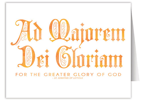 """Ad Majorem Dei Gloriam"" Quote Note Card"