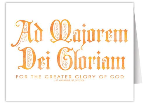 """Ad Majorem Dei Gloriam"" Quote Note Card"