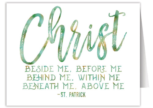 """Christ Beside Me"" Quote Note Card"