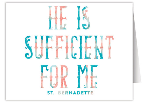 """He is Sufficient"" Quote Note Card"