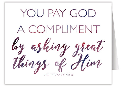 """You Pay God a Compliment"" Quote Note Card"
