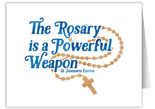 """""""The Rosary"""" Quote Note Card"""