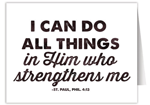 """I Can Do All Things"" Quote Note Card"