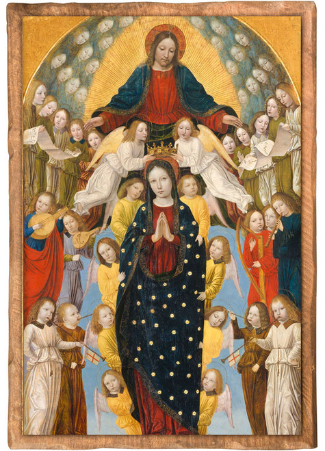"""Assumption of the Virgin"" by Bergonone Cloister Collection Catholic Icon Plaque"
