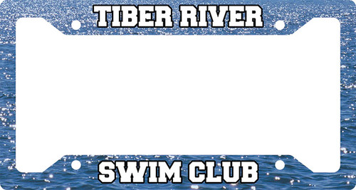 Tiber River Swim Club Plate Frame