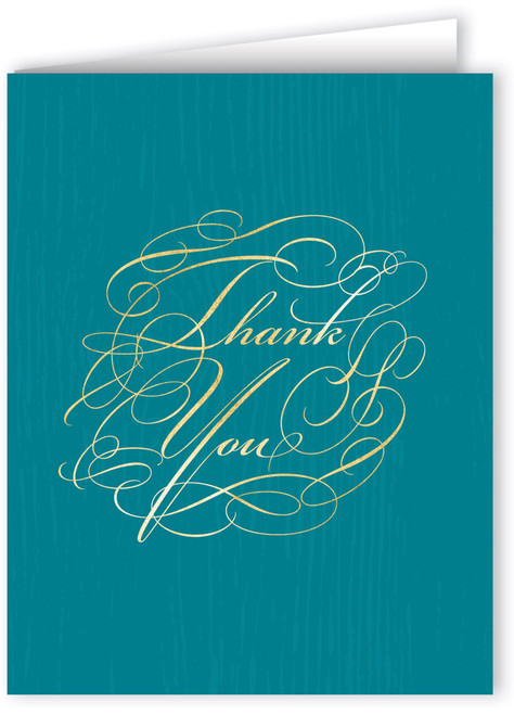 Elegant Script Thank You Note Card