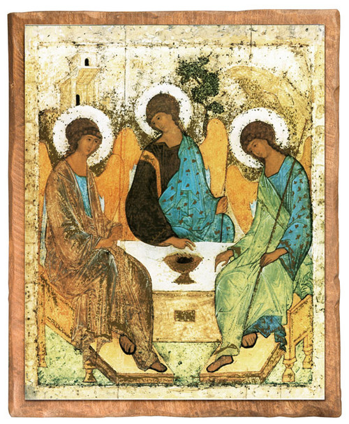 Holy Trinity Angels Cloister Collection Catholic Icon Plaque