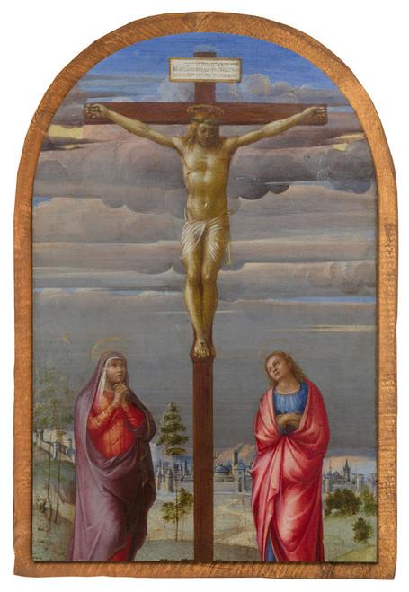 The Crucifixion by Francesco Granacci Cloister Collection Catholic Icon Plaque