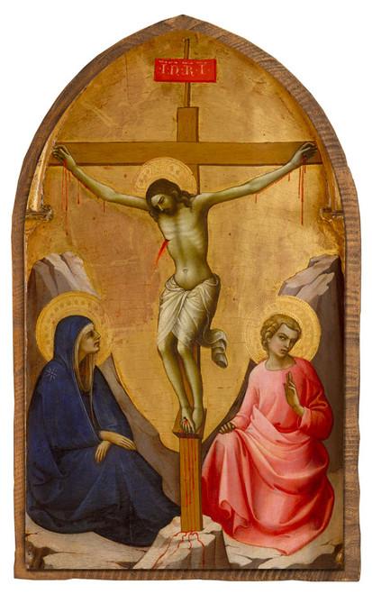 The Crucifixion by Lorenzo Monaco Cloister Collection Catholic Icon Plaque