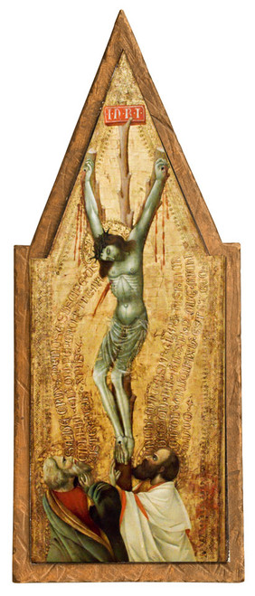 Crucifixion with St. Peter and St. Paul Cloister Collection Catholic Icon Plaque