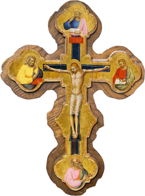 Medieval Cross with Gospel Writers Cloister Collection Catholic Icon Plaque