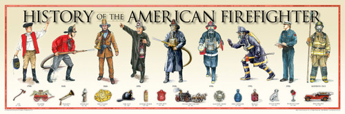 History of the American Firefighter Print