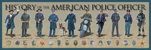 History of the American Police Officer Print