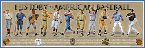 History of American Baseball Print