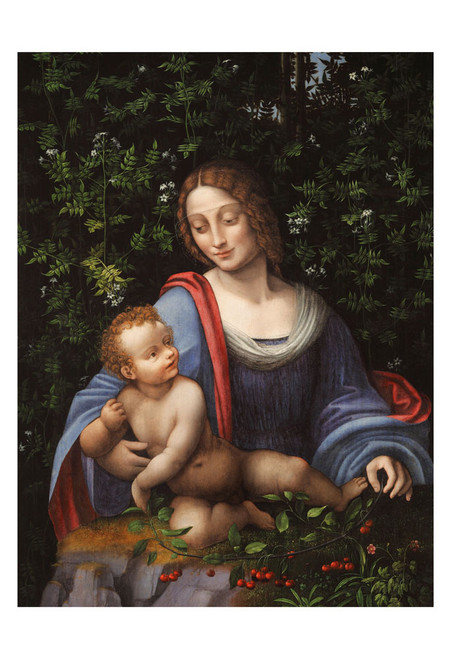Madonna and Child in a Jasmine Bower Print