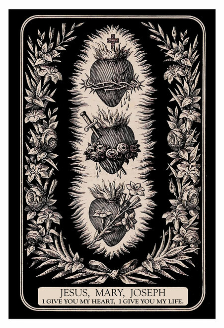 Three Hearts of the Holy Family Print