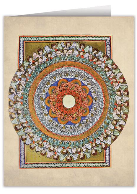 Choirs of Angels by St. Hildegard von Bingen Note Card